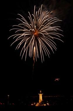 千日会観光祭の花火
